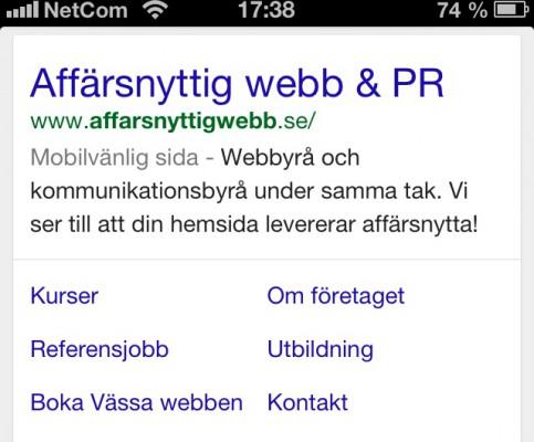 Google prioriterar mobilvänliga sidor